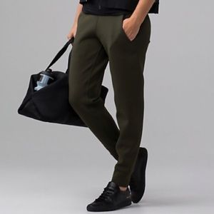"lululemon olive joggers ""embrace the space"" sz 4"